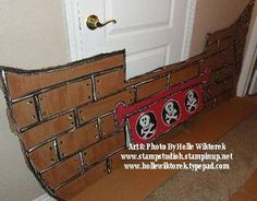 DIY Cardboard Pirate Ship (a girly one) for fun filled and imaginative play - made with board, glue, papier mache & scraps of fabric. Description from pinterest.com. I searched for this on bing.com/images