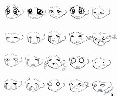 Chibi Faces Pokemon Chibi faces & chibi poses, chibi anime, chibi eyes, my he Chibi Faces, Kawaii Faces, Anime Drawings Sketches, Kawaii Drawings, Cute Drawings, Drawing Face Expressions, Drawing Expressions, Drawing Faces, Chibi Sketch