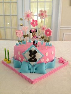 Pink & Blue Minnie Mouse Cake