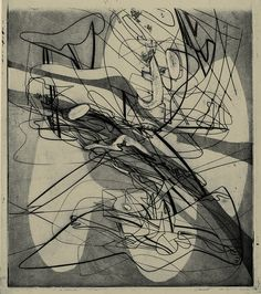 Myth of Creation by Stanley William Hayter 1940 Technique: engraving, soft-ground etching and scorper (?scraper??)