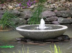 Stone bowl fountain.