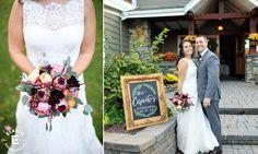 bridal bouquet, textured bouquet, pop of burgundy #fleurtaciousdesings -Elario Photography