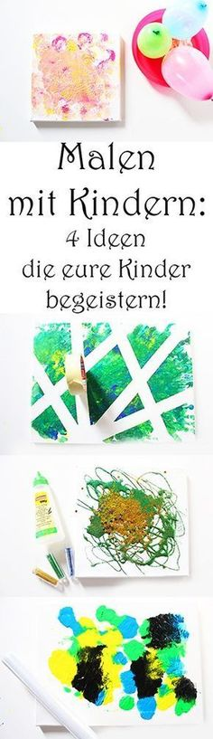 Malen mit Kindern – 4 einfache Ideen, die eure Kindern begeistern Painting with children – 4 simple ideas that will delight your children Diy And Crafts, Crafts For Kids, Arts And Crafts, Jouer Au Poker, Willem De Kooning, Diy Décoration, Drawing For Kids, Drawing Ideas, Kids And Parenting