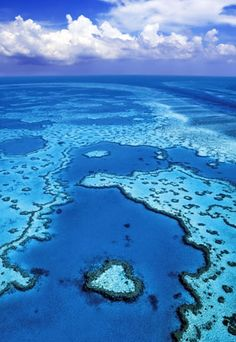 Aerial view of Heart Reef, Great Barrier Reef, Queensland, Australia