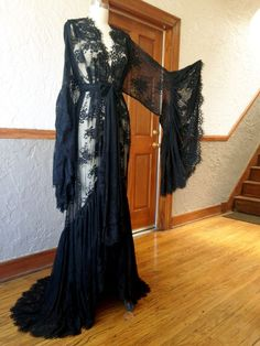 New item! Sheer black lace, to bring out your inner temptress. Full skirt and sleeve for extra drama. Please allow 1-8 weeks for pre-orders. (if...