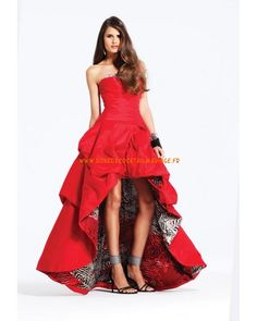 Fashion rouge robe cocktail mousseline