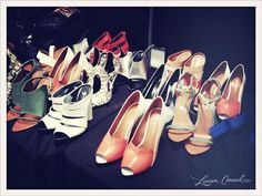 Heels backstage at the Rebecca Minkoff show. #fashion #nyfw #LaurenConrad