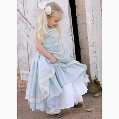 Ciel Bleu Gown - great as a flower girl's dress in an Alice in Wonderland themed wedding