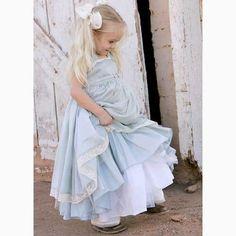 Ciel Bleu Gown - great as a flower girl's dress in an Alice in Wonderland themed wedding
