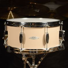 C&C 6.5x14 Maple/Gum Snare Drum High-Gloss Toffee Brown Lacquer
