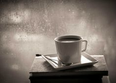 A cup of coffee & a good book on a rainy day!