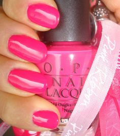 """OPI """"Pink Flamingo"""" - had this all last week.  Such a Barbie at heart!"""