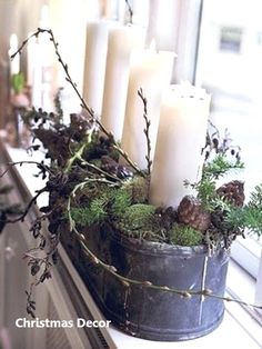 Decorations – Winter Table Ideas & More! Winter Decorations - Winter Table Ideas & More! -Winter Decorations - Winter Table Ideas & More! Christmas Makes, Elegant Christmas, Noel Christmas, Rustic Christmas, All Things Christmas, Beautiful Christmas, Winter Christmas, Christmas Crafts, Christmas Candles