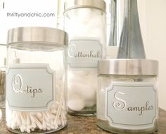 Thrifty and Chic: Bathroom Container Labels - Free Printable(And it works)
