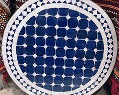 Encaustic Cement Tiles | Mosaic Tiles | Design| Amethyst Artisan | NYC | Round Ceramic Mosaic Tables
