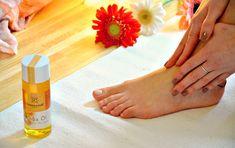 Yoga Fußmassage mit Jojobaöl