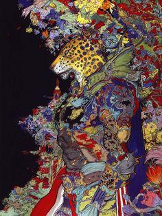 "960018visual: """"The Guin Saga"", cover art by Yoshitaka Amano. """