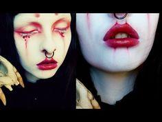 Goth Shironuri Makeup tutorial - Blood - YouTube