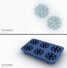 Snowflake Ice Cube Tray and lots of other fun shapes! Best Ice Cube Trays, Ice Tray, Ice Cube Molds, Ice Cubes, Ice Ice Baby, Cool Kitchen Gadgets, Candy Molds, Cool Inventions, Chocolate Molds