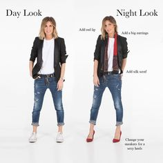 One of the keys to making your capsule wardrobe work for you is being able to mix and match the pieces and use your accessories to change up your look - fashion 50 Fashion, Look Fashion, Fashion Outfits, Womens Fashion, Fashion Trends, Woman Outfits, Fall Outfits, Casual Outfits, Cute Outfits