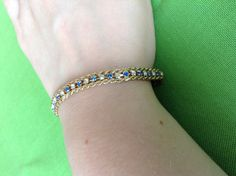 Vintage Korea Chain and Rhinestone Bracelet by LaylaBaylaJewelry