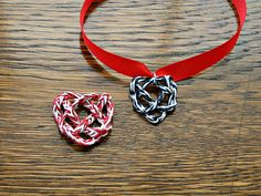 Paper Yarn Heart Knot Necklace (with video)