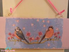 Funky-Junk: Birds on a Branch Vintage Style Plaquette