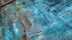 Suddenly Blue, Oil & Cold Wax on cradled panel
