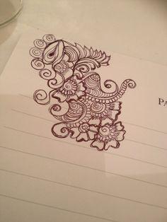 Freehand Henna tattoo by Rozy Karim