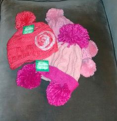 Woolly knitted hats for the chilly winter days ...!