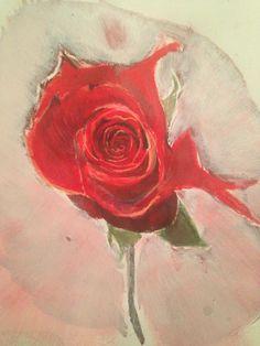 Rose en acrylique