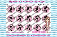 1' Bottle caps (4x6) Digital Pink Browning Deer Logo A141  country & cowgirl Bottle cap images #country #cowgirl #bottlecap #BCI #shrinkydinkimages #bowcenters #hairbows #bowmaking #ironon #printables #printyourself #digitaltransfer #doityourself #transfer #ribbongraphics #ribbon #shirtprint #tshirt #digitalart #diy #digital #graphicdesign please purchase via link  http://craftinheavenboutique.com/index.php?main_page=index&cPath=323_533_42_118