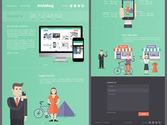 Instabuy Social Media Shopping Landing Page by Alex Pronsky
