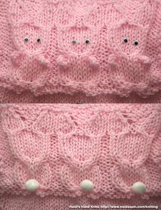 All+Knitting+Stitches | Download Free Knit Patterns – Free Knitting Patterns  Cute bunnies!!!