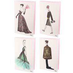 The Met Store -  Embellished Dresses Notecards