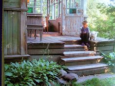 """perfect summer house back porch. from the design book """"russian house"""" by ella krasner via annekata blog"""