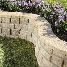 Bring an unmatched sense of permanence and style to any home landscape with Pavestone RockWall Large Pecan Concrete Retaining Wall Block. Railroad Tie Retaining Wall, Small Retaining Wall, Retaining Wall Steps, Backyard Retaining Walls, Retaining Wall Blocks, Concrete Retaining Walls, Landscaping Blocks, Stone Landscaping, Driveway Landscaping