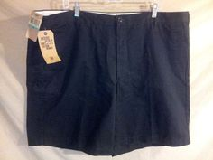 NEW w/ Tags Men's DOCKERS Flat Front Khaki Shorts size 46 Black BIG & TALL #DOCKERS #KhakisChinos