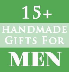 Homemade and handmade Christmas gift ideas for dad or other men in your life