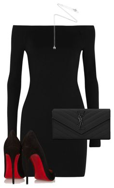 A fashion look from August 2015 featuring LBD Little Black Dress, black shoes and yves saint laurent bags. Browse and shop related looks. Komplette Outfits, Dressy Outfits, Night Outfits, Stylish Outfits, Black Women Fashion, Look Fashion, Womens Fashion, Fashion 2018, Fashion Styles