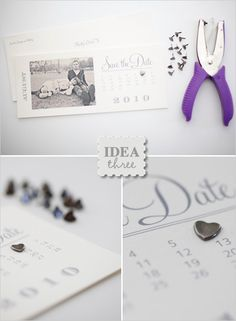 Free Save the Date Templates | Photo Save the Date Calendar Cards - The Wedding Chicks