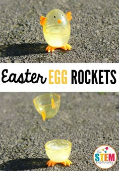 I love these Easter egg rockets! What an awesome science experiment for kids. Perfect science activity for spring or Easter. I love these Easter egg rockets! What an awesome science experiment for kids. Perfect science activity for spring or Easter. Kid Science, Cool Science Experiments, Preschool Science, Summer Science, Easter Activities For Preschool, Physical Science, Earth Science, Science Chemistry, Science Classroom