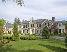 Custom 12,000 SF home construction in Greenwich, CT with Pool, Pool house, and sport courts.