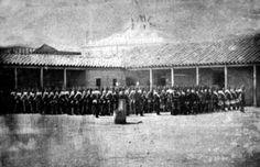 1852. Batallón 2º de línea en su cuartel