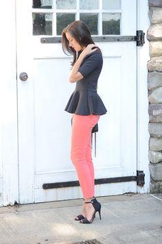 Pink Pants & Peplum