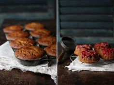 Upside Down Cranberry & Almond cakes http://www.roostblog.com/roost/cranberry-almond-upside-down-cakes.html