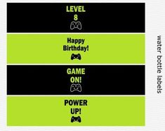 Etsy :: Your place to buy and sell all things handmade Boys 8th Birthday, 19th Birthday, Birthday Games, Happy Birthday Banners, Blacked Videos, Off Game, Printable Banner, Party Signs, Gaming