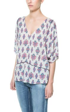 I can do this. Save for possible piping errors. ETHNIC PRINTED TOP from Zara