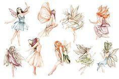 Fairy Clipart, Forest Fairy, Digital Illustration, Fairies, Fairy Tales, Clip Art, Watercolor, Pattern, Scrapbooking