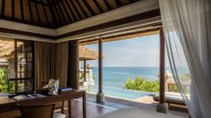 This luxurious one-bedroom private villa offers maximum sanctuary and space  with the best ocean views, open-air living and dining pavilion, and private infinity-edge pool. Book now to experience a new era of Balinese authenticity!